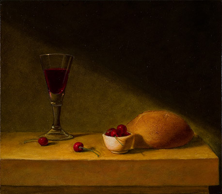 Still Life with Eucharist Symbols