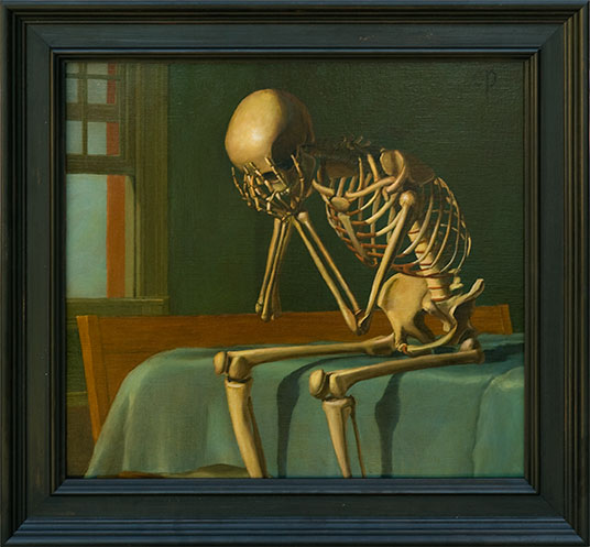 Chris Peters | Leave The Shame Behind | Skeleton Painting