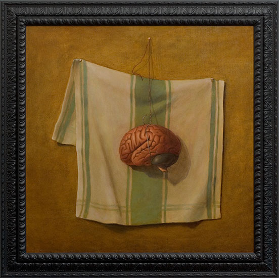 Pop Surrealism Brain Painting by Los Angeles Artist Chris Peters