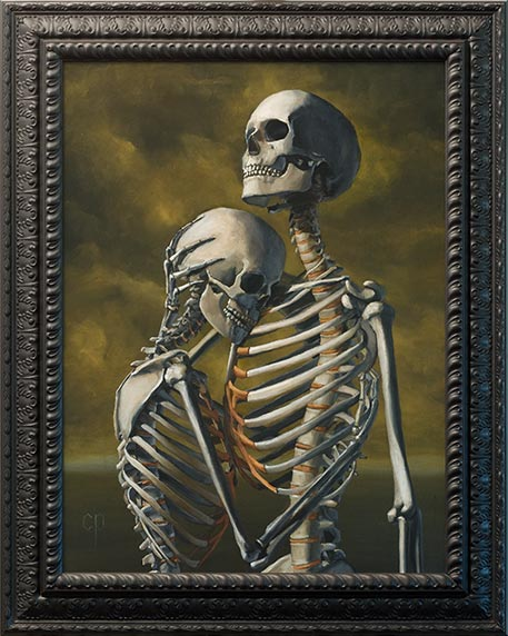 Chris Peters | To Hold You Again | Skeleton Painting