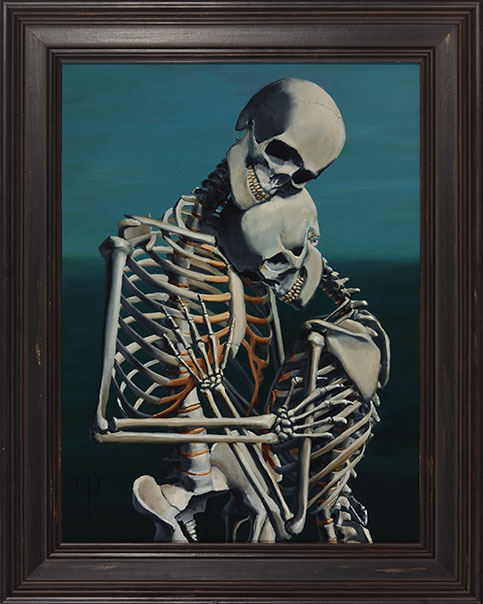 Chris Peters | To Love and Protect | Skeleton Painting | Mike Dirnt, Greenday