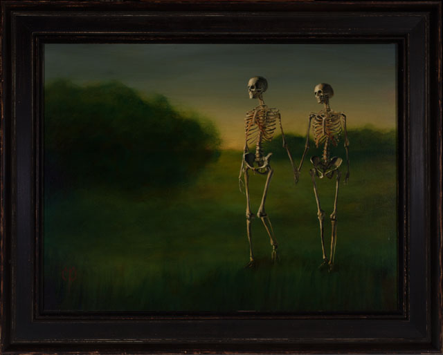Chris Peters Evening Walk Skeleton Painting