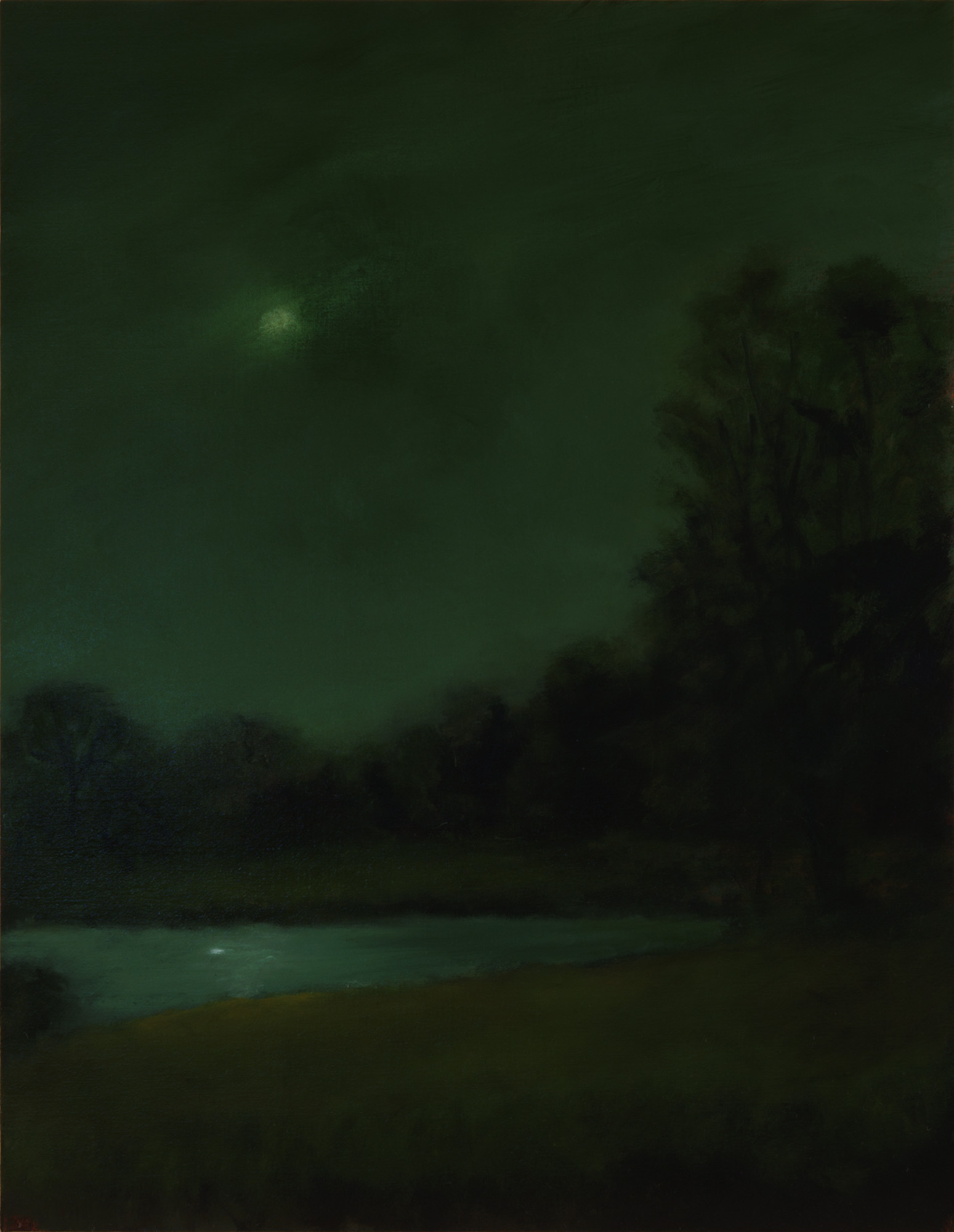 American Tonalism / Moon over Small Lake / Chris Peters