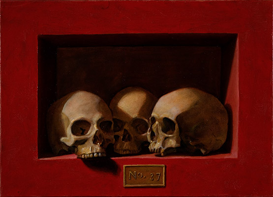Chris Peters | Box 37 | Skull Still Life Painting