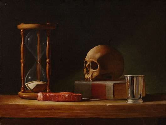 Chris Peters | Sins of the Flesh | Skull Still Life Painting